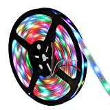 INVOLT WS2812B Individually Addressable LED Strip 30LED/M 150 Pixels 5M 5V, Programmable Dream Color Chasing Flexible Ourdoor Decoration, IP67 Waterproof Inside Tube Black PCB (Color: Ws2812b Rgb Strips 150leds Waterproof, Tamaño: 16.4 Feet)