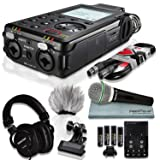 Tascam DR-100mkIII Linear PCM Recorder and Deluxe Bundle with Microphone+ Clip Clamp+Headphones+ Cable+ 32GB+ Fibertique Cloth+More (Tamaño: Deluxe)