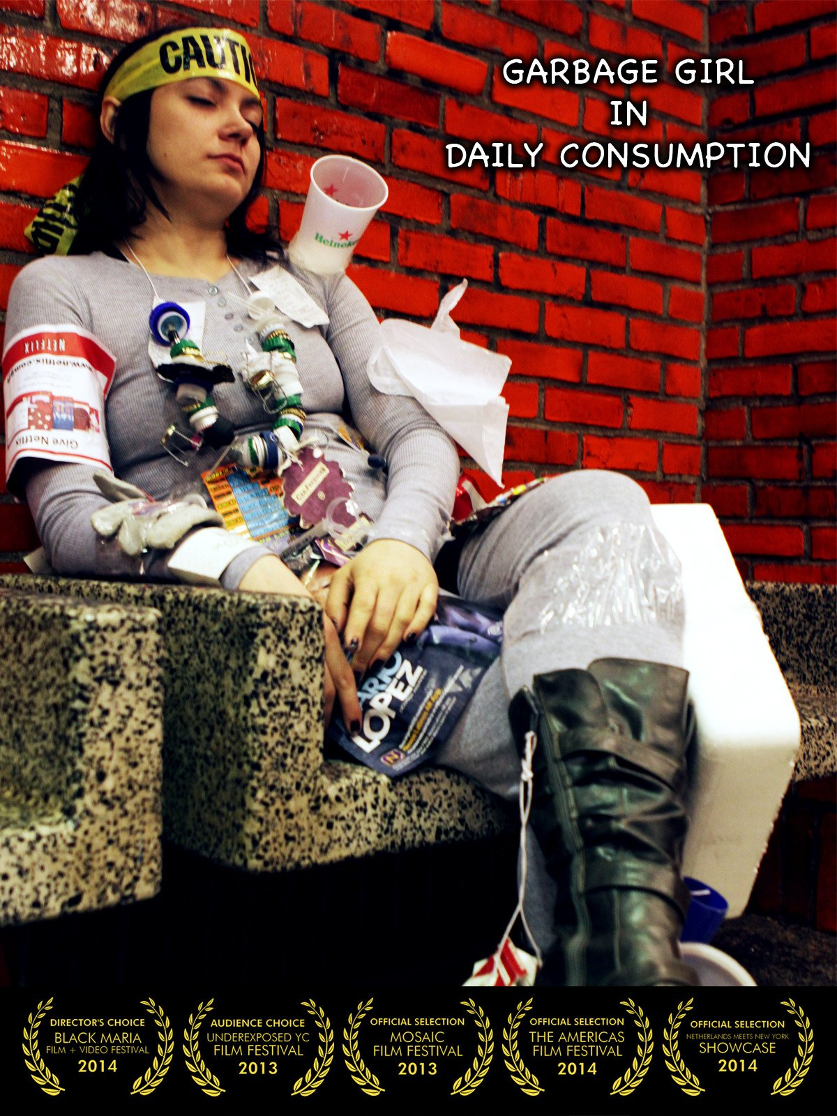 Garbage Girl in Daily Consumption