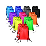 20 Pieces Drawstring Backpack Sport Bags Cinch Tote Bags for Traveling and Storage (20 Colors, Size 1) (Color: 20 Colors, Tamaño: Size 1)
