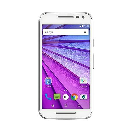 Motorola Moto G (3e génération) Smartphone débloqué 4G (Ecran: 5 pouces - 8 Go - Android 5.1) Blanc (import Europe)