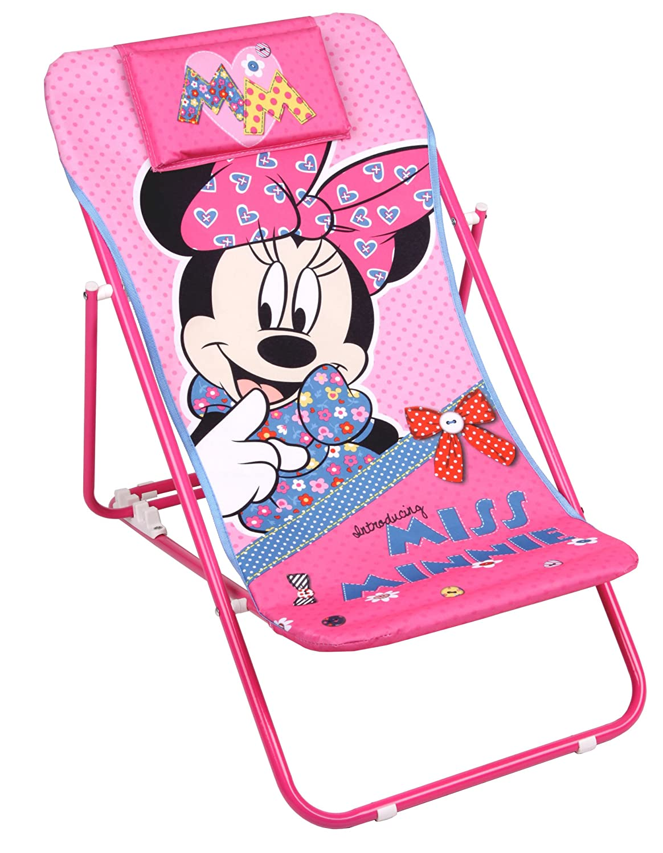 Disney Minnie Mouse Liegestuhl Gartenstuhl Liege pink jetzt kaufen