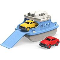 Green Toys Ferry Boat with Mini Cars Bathtub Toy (Blue/White)