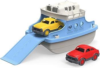 Green Toys Ferry Boat with Mini Cars Bathtub Toy
