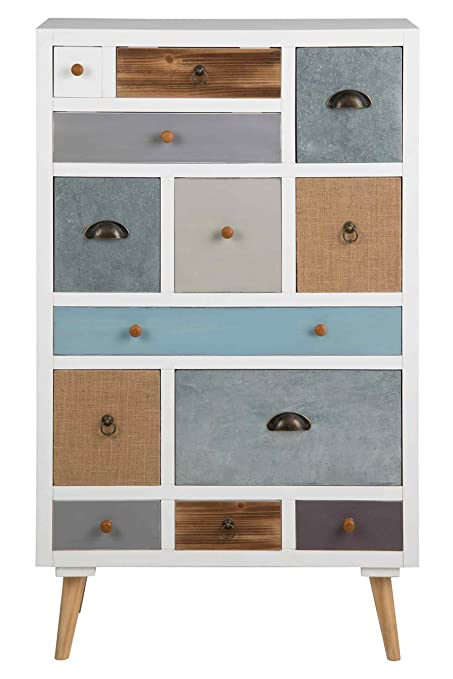 Kommode, Sideboard, Anrichte, Highboard, TV Board, Flurkommode, Schlafzimmerkommode, Lowboard, weiß, braun, grau, blau, 13 Schubladen