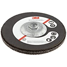 "3M Flap Disc 577F, T27 Giant, Alumina Zirconia, Dry/Wet, 7"" Diameter, 60 Grit, 5/8""-11 Thread Size (Pack of 1)"
