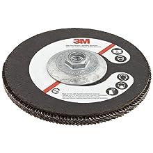 "3M Flap Disc 577F, T27 Giant, Alumina Zirconia, Dry/Wet, 7"" Diameter, 60 Grit, 5/8""-11 Thread Size (Pack of 1)"