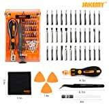 Jakemy Screwdriver Set, Precision Repair Tool Kit, All in One with 36 Magnetic Driver Bits Screwdriver Kit, Opening Tool and Tweezer for iphone X / 8 / 7, Plus, Cell Phone, Macbook, Laptop, PC