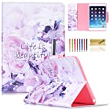 iPad Air Dteck Colorful Painting Magnetic Closure Design Wallet Case (Color: AA- Life is Beautiful, Tamaño: Model Number :A1474 /A1475 /A1476)