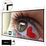 Projector Screen Movie Screen 100/120inch 16:9 HD Double-Sided Projection Foldable Portable Projection Screen with 4 Sides Pole Support for Outdoor Indoor Theater (120 inch) (Tamaño: 120 inch)