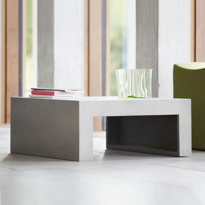 Beton Couchtisch grau – 70 x 70 cm, h 30 cm günstig bestellen