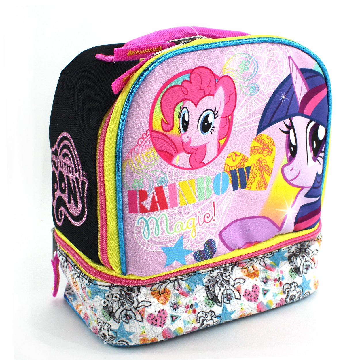 My Little Pony Black Dual Compartment Lunch Box