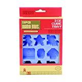 Nintendo Super Mario Bros Reusable Silicone Ice Cube Tray for Fun Shaped Ice Cubes (Color: Blue)