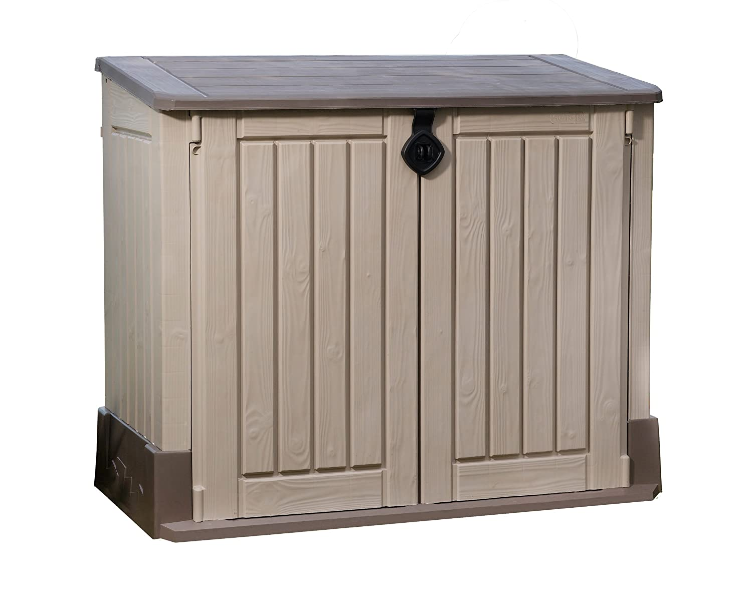 garden storage box shed unit outdoor patio midi tools