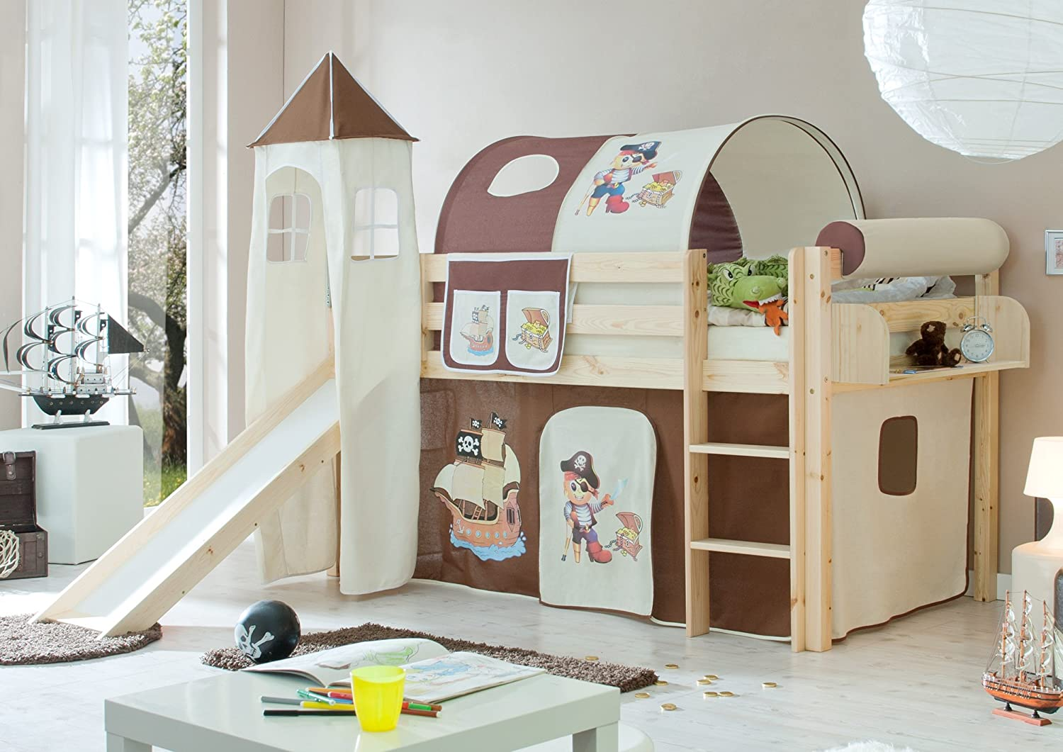kinderbett mit rutsche hochbett mit rutsche g nstige angebote. Black Bedroom Furniture Sets. Home Design Ideas