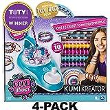 Cool Maker, KumiKreator Friendship Bracelet Maker, Makes Up to 10 Bracelets, for Ages 8 and Up (4-Pack) (Tamaño: 4-PACK)