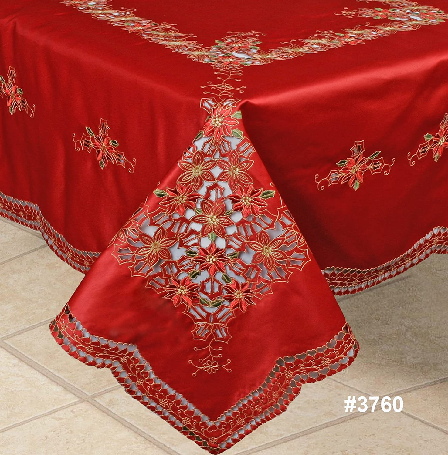 Poinsettia Table Covers | Christmas Wikii