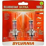 SYLVANIA 9003/H4 SilverStar Ultra Halogen Headlight Bulb, (Contains 2 Bulbs) (Tamaño: twin)