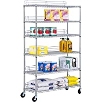 Honey-Can-Do 6-Tier Commercial Grade Adjustable Shelving Unit (Gray)