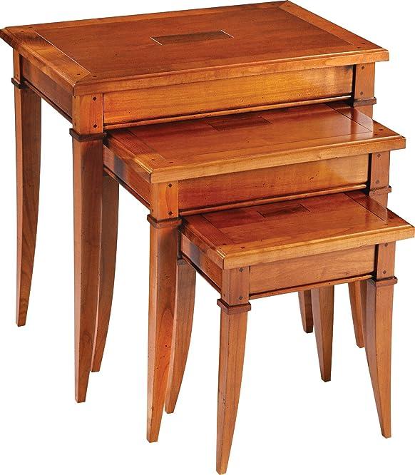 Tavolini ciliegio massiccio piedi Spade