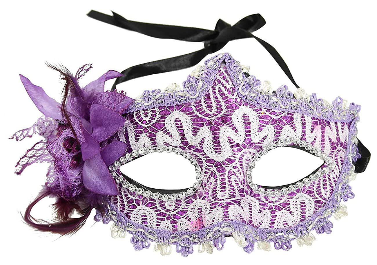 LRKC Classy Vintage Lace Floral Halloween Party Masquerade Eye Mask 0