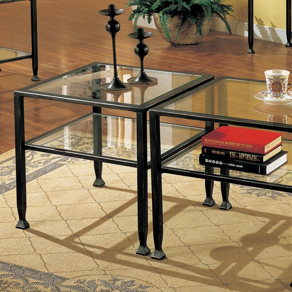 Sei bunching metal cocktail table coffee tables for Coffee tables on amazon