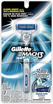 Gillette Mach3 Turbo Men's Razor w/1 Razor 1 Cartridge
