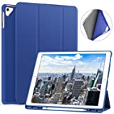 Ztotop Case for iPad Pro 12.9 Inch 2017/2015 with Pencil Holder- Lightweight Soft TPU Back Cover and Trifold Stand with Auto Sleep/Wake,Protective for iPad Pro 12.9 Inch(1st & 2nd Gen),Blue (Color: Blue)