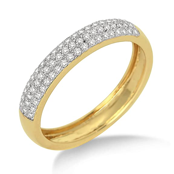 Miore MP9018RM Eternity Ring, 9 ct Yellow Gold, Diamond Eternity Ring, 1/3 carat Diamond Weight