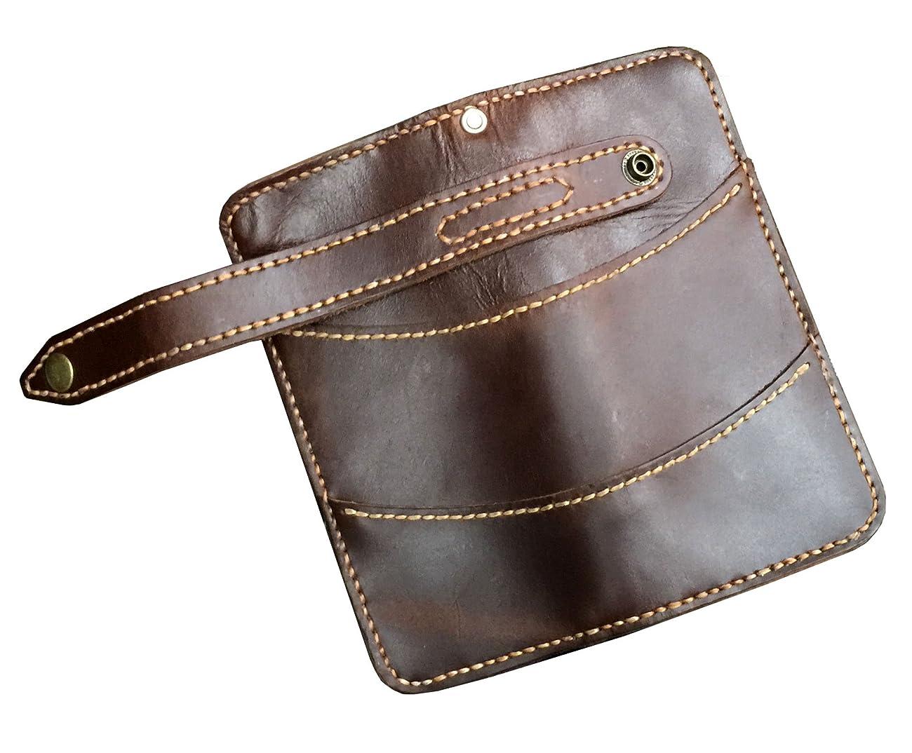 D'SHARK Men's Vintage Biker Genuine Leather Billfold Wallet 3