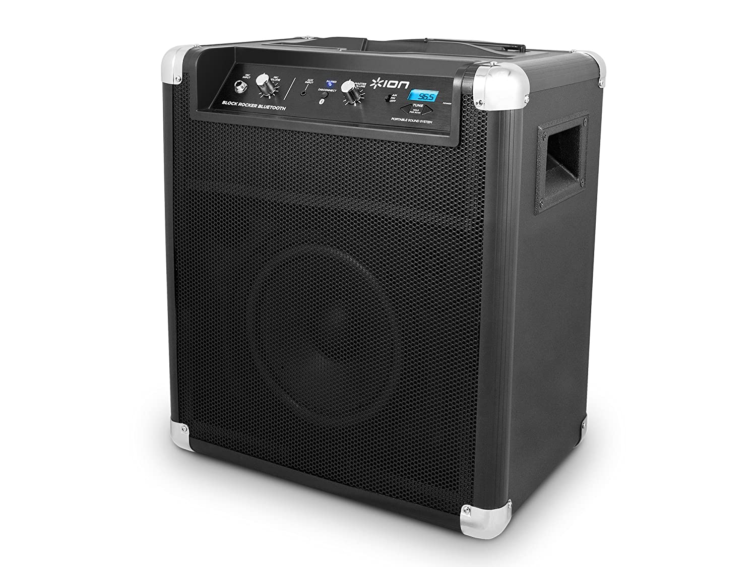 ION Block Rocker portable Bluetooth speaker system with telescoping handle & wheels $119.99