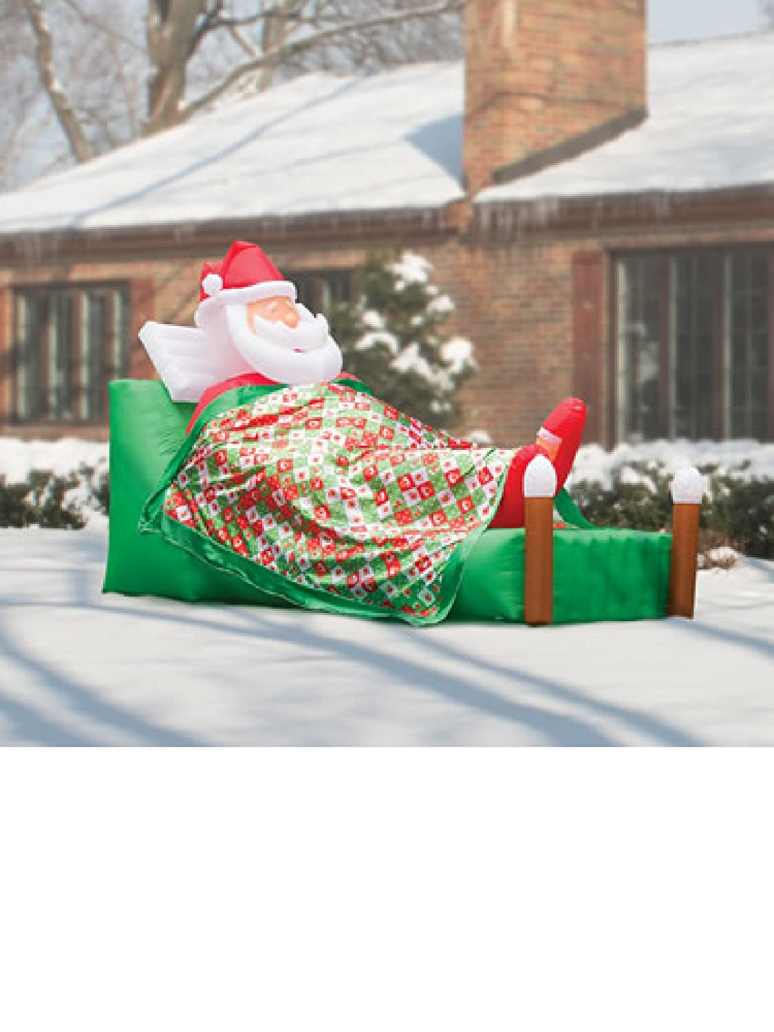 Santa at Home Outdoor Inflatables