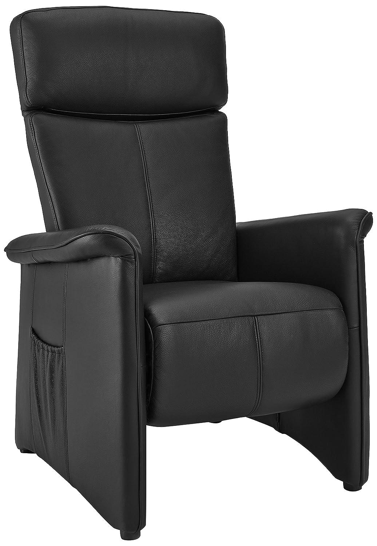 Sino-Living SE-823 Relax und Ruhesessel mit motorischer Verstellung, dickleder / schwarz