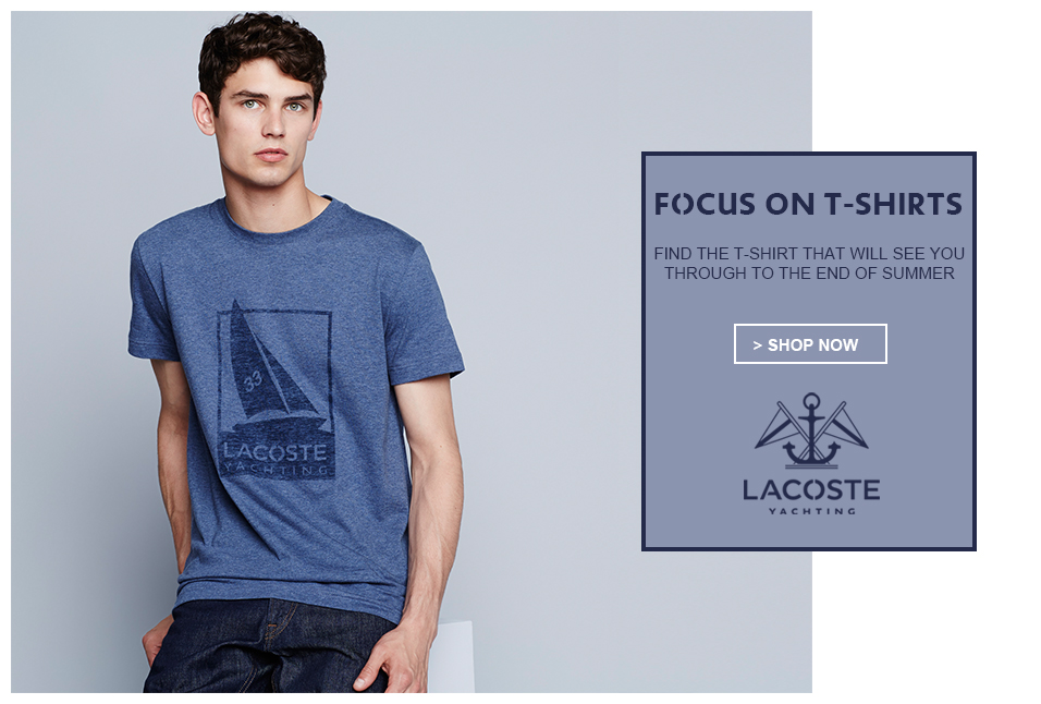 Shop Lacoste Mens Tees