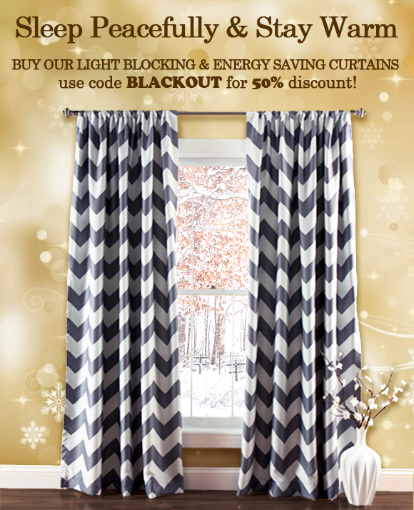 Blackout Curtains for $39 by Lush Decor