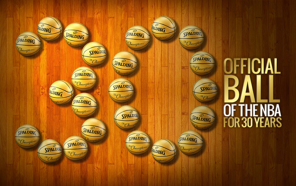Spalding - The official ball of the NBA for 30 Years