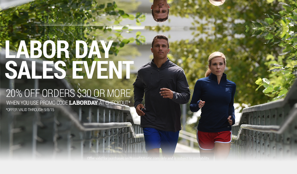 Russell Athletic Labor Day Sale