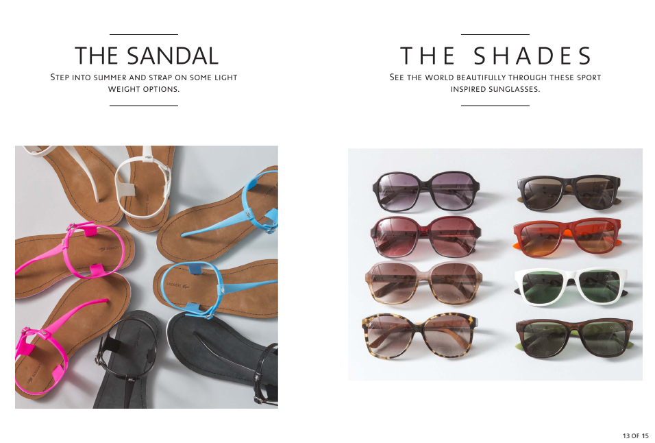 Shop Lacoste Sandals and Shades