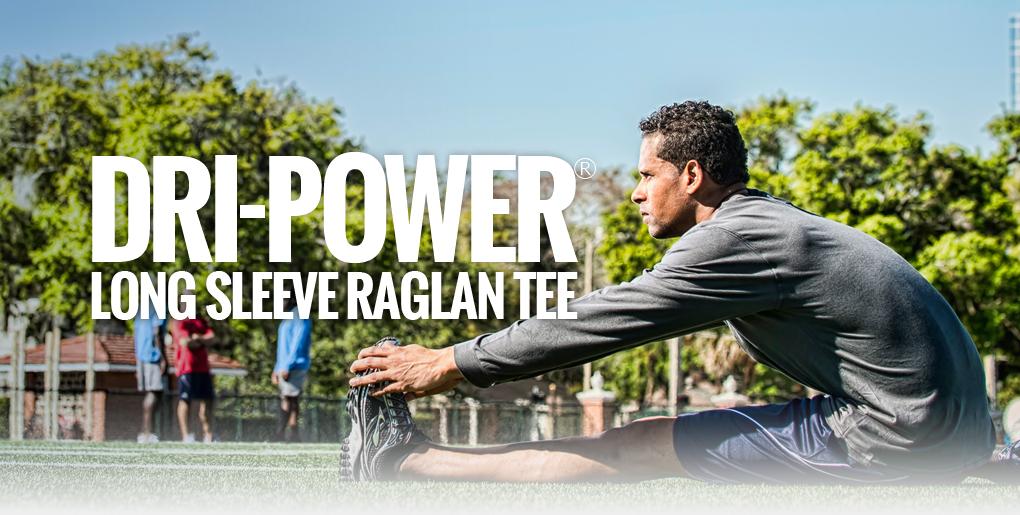 Russell Athletic Men's Dri-Power Long Sleeve Raglan Tee