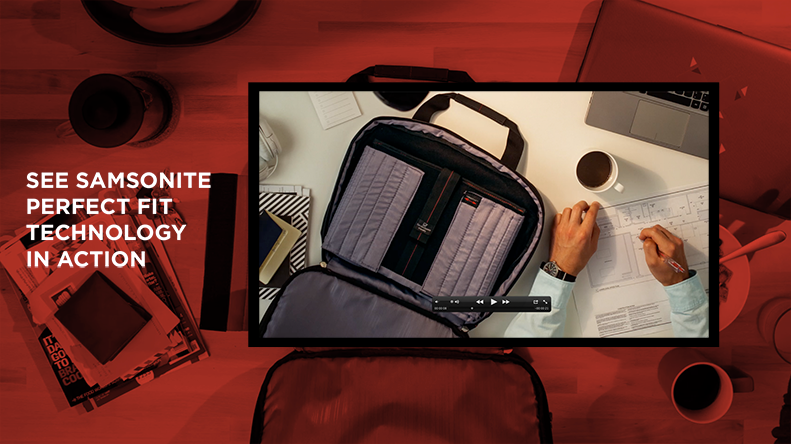 See Samsonite Perfect Fit Technology in Action