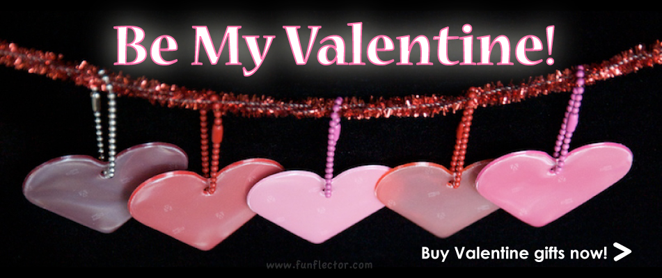Premium Safety Reflector Hearts for Valentine Gifts. Easy gift to send with a Valentine Card.