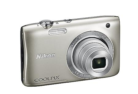 """Nikon Coolpix S2900 Compact Camera numérique, 20,1 mégapixels, zoom 5X, ISO 3200, LCD 2,7 """", HD, couleur: argent [carte Nikon: 4 ans de garantie]"""