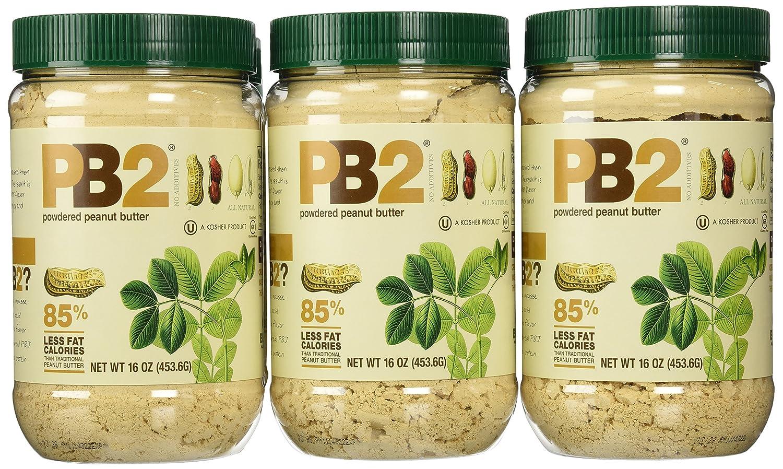 Bell Plantation PB2 Peanut Butter, 1 lb Jar 12-pack