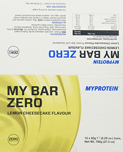Myprotein My Bar Zero Lemon Cheesecake, 12 x 65 g (1 x 780 g)