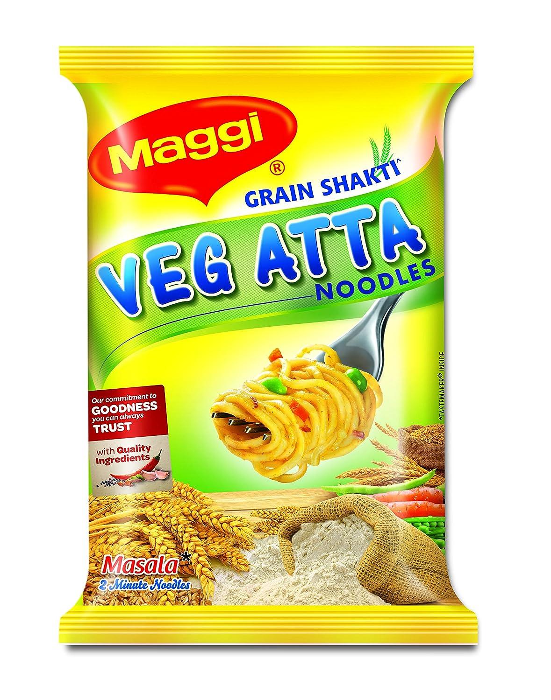 MAGGI Veg Atta Noodles, 80g each (Pack of 10)