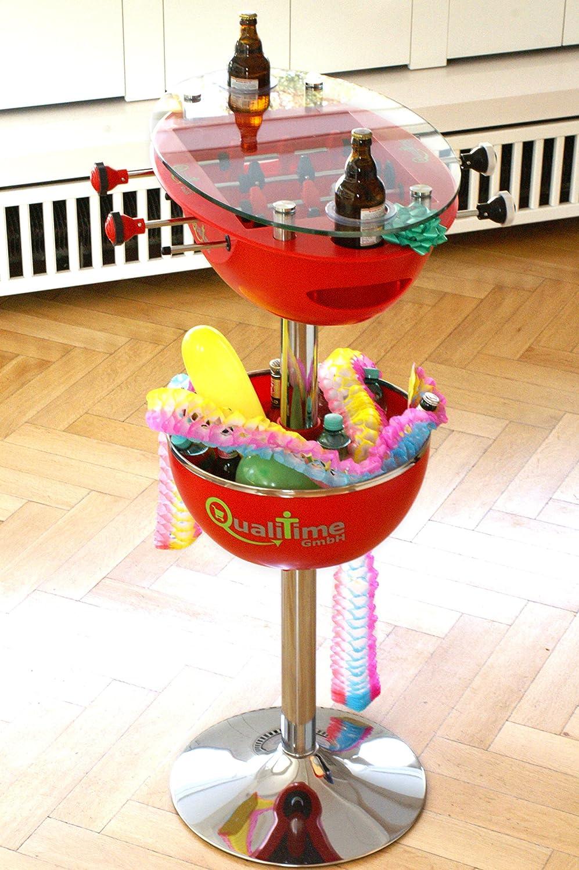 Kicker Partytisch Stehtisch mit Eiskübel & Getränkehalter kaufen