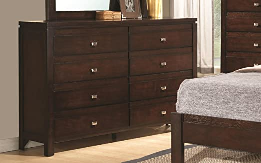 Wooden Dresser in Cappuccino Finish