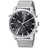 Tommy Hilfiger Men's 1790877 Silver-Tone Stainless Steel Watch (Color: Silver/Black, Tamaño: Standard)