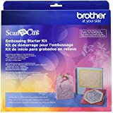 """Brother CAEBSKIT1 Embossing Starter Kit, Card Embossing Kit, Scrap Booking Starter Kit, For Use with Brother ScanNcut or ScanNcut2 Machines, 50 Embossing Patterns, 12"""" x 9.5"""" Embossing Mat"""