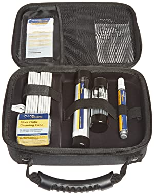 Fluke Networks NFC-KIT-CASE Fiber Optic Cleaning Kit with Case (Tamaño: CASE,CUBE,PEN,1.25+2.5MM SWABS,10 CARDS)